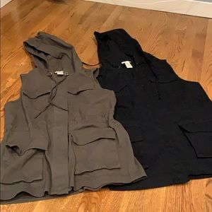Two hooded vests size S & M